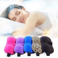 Wholesale leopard patches - 3D Sleep Mask Natural Leopard Sleeping Eye Mask Sponge Eyeshade Cover Blinder Travel Sleep Rest Soft Eye Patch OOA2969