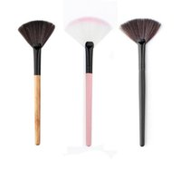 Wholesale Cosmetic Fan Brushes Wholesale - Wholesale-High quality Makeup Fan Blush Face Powder Foundation Cosmetic Brush