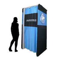 Wholesale 120 cm Stretch Lite Portable Change Room Dressing Room Fitting Room with Tension Fabric Printing and Easy Carry Bag E03F