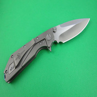 Wholesale mi tools for sale - Recemend MI D2 TC4 Wild boar made Bearing washer folding knife titanium alloy handle tactical knive tools freeshipping