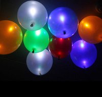 Vente en gros - Hot New 5PCS Led Flashing Hellium Baloon Anniversaire Décoration Décoration NOUVEAU Colorful Baby Kids Toys
