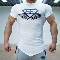 Wholesale Long Body T Shirts Men - Wholesale- 2017 New Engineer Stringer T-shirt Man Body Engineers Bodybuilding Fitness Sportswear For Men Shirt t-Shirts