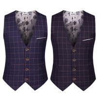 Wholesale Korean Style Jackets For Men - Wholesale- Korean Style Male Sleeveless Suit Jacket Men Formal Waistcoat Slim Casual Plain Dress Vests For Men