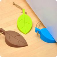 Wholesale Security Cards Shape - 2017 New Leaf Shape Door Stops the Leaf Peel Door Stopper Windbreak Doors Block security door card for Children pinch hand safety