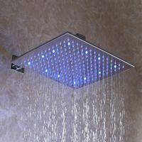 Wholesale Shower Led 12 - 12 Inch, Square Chrome Overhead LED Rainfall Shower Head (D003-2)