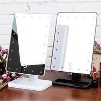 beleuchtete spiegel großhandel-Schönheit kosmetisch Make Up Beleuchtet Desktop-Ständer Spiegel mit 20 LED-Licht mit Exquisite und elegante Erscheinung Top-Qualität