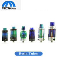 Wholesale demon glass - Demon Killer Resin Glass Tubes Replacement For TFV12 TFV8 Baby Eleaf Ijust S Melo 3 Mini Aspire Cleito 120 New Tank Glass