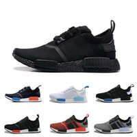 Wholesale Cheap Fashion Sneakers Men - 2017 Cheap Wholesale Hot NMD R1 Primeknit PK Perfect Authentic Running Sneakers Fashion Running Shoes NMD Runner Primeknit Sneakers With BOX