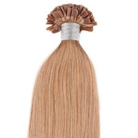 Wholesale top light nails for sale - In Stock Nail Top Extension U Tip Hair Extensions Human g U tip Extensions Strands Pre Bonded Nail Tip Pre bonded Hair Extensions