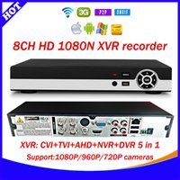 Wholesale Dvr Ip Channel - Newest Technology 8CH 1080N XVR : CVI TVI AHD NVR DVR Five in one CCTV Video Recorder Onvif Network 8 Channel IP NVR 1080P P2P cloud xmeye