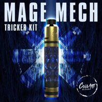 Wholesale Gold Plated Pens - CoilArt Mage Mech Tricker Kit Airflow Tank 18650 Mechanical Mod 24K Gold Plated Deck Coil Art Kit Vs Smok Vape pen 22