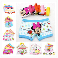 Wholesale Wholesale Girl Boxer - Cotton 3-11 years baby girls panties Cartoon Kids underwear pants Children's briefs Girls Cute boxer shorts