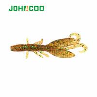 Wholesale Fly Ul - Johncoo 60Pcs Pesca Artificial Lure Shrimp Lure Soft Bait Fishing Lure 5.8Cm 1.2G Swimbait Fishing Lures Ul Fishing Worm Fly Fi