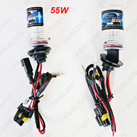 Wholesale 55w Bulbs H7 Replacement - FEELDO 55W H1 H3 H7 H8 H9 H11 H10 9005 9006 880 881 Car Xenon HID Bulb Replacement Singel Bulb Lamps #2426