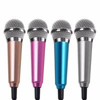 ingrosso migliori microfoni a filo-Microfono per microfono cablato da 3,5 mm di moda su mini risvolto Mini microfono con cuffia per cellulare Cantare microfono per karaoke canzone