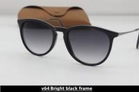 Wholesale Sun Glasses Leopard - Top Quality New Fashion Sunglasses For Man Woman Erika Eyewear Designer Brand Sun Glasses Matt Leopard Gradient UV400 Lenses Box and Cases