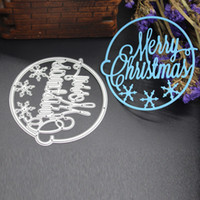 Letra do Feliz Natal DIY Metal Cutting Dies Stencil Scrapbook Card Album Paper Embossing Crafts