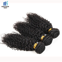 Cor natural 2 4 Brown Mongol Kinky Curly Virgin Hair 3 Bundles Remy Extensão do cabelo humano Bundles de cabelo da Mongólia Afro Kinky Curly Style