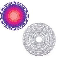 Wholesale Handmade Albums - 5Pcs set Circles Metal Cutting Dies Stencils DIY Scrapbook Paper Card Album Craft Handmade