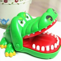 Wholesale Wholesale Alligator Toy - Wholesale-Creative Practical Jokes Mouth Tooth Alligator Hand Children's Toys Family Games Classic Biting Hand Crocodile Game LB