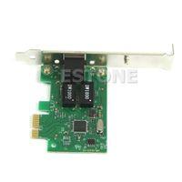 Wholesale pci e lan card - Wholesale- Computer Accessories Gigabit Ethernet LAN PCI Express PCI-e Network Controller Card 1pc