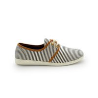 Wholesale Cheap Wholesale Loafer Shoes - RC1247 solid color striped canvas shoes flat pattern stripeed women loafers cheap outdoor lace-up walking shoes