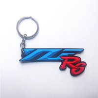 Wholesale Motorcycle Racing Keychain - 2017 Brand new MOTO GP Motorcycle motorcross racing PVC Rubber Key rings Keychain FOR Yamaha YZF R6