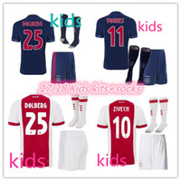 26e59a0ddde Soccer Boys Short top quality 2017 2018 Ajax FC Soccer Jerseys kids kits +  socks 17. 18