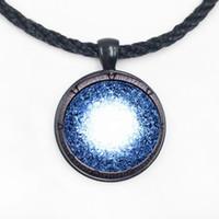 Wholesale Rhinestone Necklace Uk - Steampunk UK Drama stargate portal Pendant Necklace doctor who chain mens new jewelry brass sivler womens