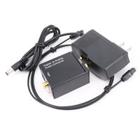 Digital Adaptador Optic Koaxial RCA Toslink Signal zum analogen Audio Converter Adapter mit Glasfaserkabel Netzteil