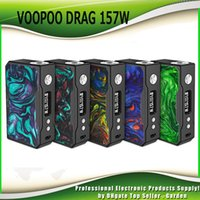 Wholesale Ecig Battery New - Original VOOPOO DRAG 157W TC Box Mod Dual 18650 Battery Super Vape Ecig Mods Temperature Control Mod 100% Authentic New Colors