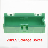 Wholesale Electronic Components Kits - Wholesale-20pcs Green SMT SMD Kit anti-static Laboratory Electronic Components Storage Boxes Tool Case free shipping