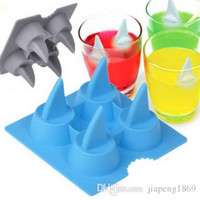 Wholesale Silicone Mould Brain - Silicone Brain Shape Ice Cube Freeze Mold Cream Tools Mould Hot Selling Shark 3D Shape Tray Cool