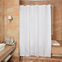 Wholesale white polyester shower curtain - Waterproof Shower Curtain 100% Polyester mildew thick Bathroom Curtains white solid color Pattern with Hooks Free wholesale LJ027