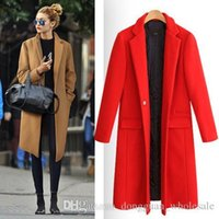 Wholesale Women Nice Winter Coats - Manteau Femme European Nice Fall   Winter Women Oversized Quilted Woolen Coat Nibbuns Simple Outerwear Casaco Feminino