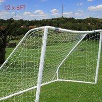 Wholesale Soccer Football Net - 12 x 6FT Full Size Football Net for Soccer Goal Post Junior Sports Training Rain-resistant Weather-proof Football Net Children +B