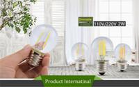 ingrosso illuminazione del globo di sostituzione-Lampadine a LED G45 2W Dimmerabile 110V / 220V Lampadina a LED E12 / E14 / E17 / E26 / E27 / B15 / B22 Lampadina a globo bianco morbido con sostituzione di 15 Watt