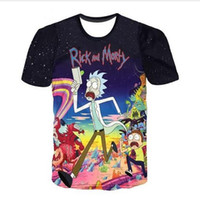 Wholesale Womens Summer Style T Shirts - Newest Fashion Womens mens Rick And Morty Summer Style Funny 3D Print Casual T-Shirt AB09