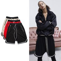 Wholesale Red Spandex Jumpsuit - new workout men short beach jumpsuit harem bieber FOG spandex mens clothing FOG black mesh drop crotch summer basketball shorts