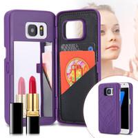 wasser telefon schutz großhandel-Für iPhone XS MAXX XR 8 7 3D Wasser Haut PU Leder Rückseitige Abdeckung Spiegel Fall Dual Layer Card Phone Case Protector