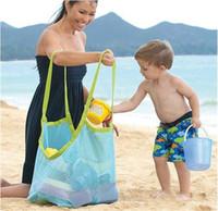 Wholesale fedex toys - New Outdoor children toy finishing bag pond sand dredger tool debris storage grid beach bag large DHL FEDEX