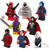 Plastics spawn lot - 8pcs PG8014 Marvel Super Hero Hydra Captain America Spawn Atom Doctor Strange Blocks Two Face Mini Toys