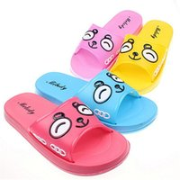 Wholesale Ladies Cute Sandals - XBMW-New word lady cute panda non-slip children's bathroom slippers sandals slippers loss treatment