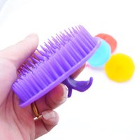 Wholesale Comb Massager - Wholesale- New Arrival Silicone Shampoo Scalp Shower Body Washing Hair Massage Massager Brush Comb