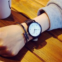 Wholesale Hand Digital - (In stock)Peg bracelet fashion watch quartz watch lovers lover casual PU Leather Watch