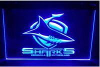 Wholesale Shark Night Lights - Sharks beer bar pub club 3d signs led neon light sign home decor crafts