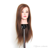 Wholesale Hair Salon Mannequin Heads - 22'' Synthetic Mannequin Head Salon Cosmetology Hair Hairdressing Training Head Mannequin + Clamp Holder