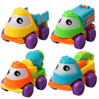 Wholesale Cartoon Pull Back Car - 4 pcs Baby Toys Pull Back Cars Plastic Cute Toy Cars for Child Wheels Mini Car Model Funny Kids Toy