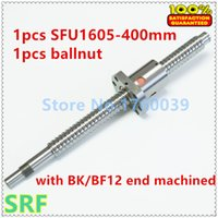 Wholesale Rolled ballsrew mm diameter RM1605 ball screw L mm SFU1605 ballnut with BK BF12 end machined for CNC part