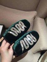 Wholesale Diamonds Sandals Flat Shoes - 2017 Summer new Womens fashion slippers Italian Velvet leather sandal luxury diamonds fliflops flat Shinning brand shoes